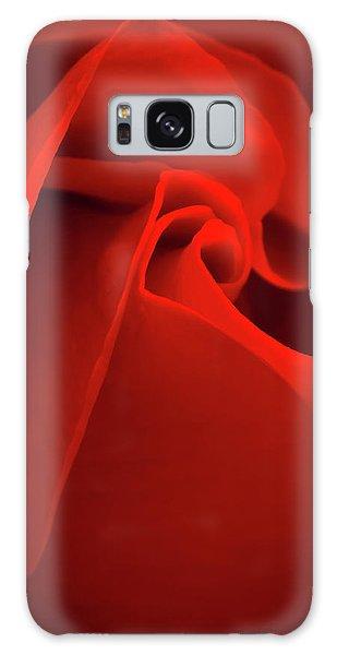 Red Rose Macro Galaxy Case