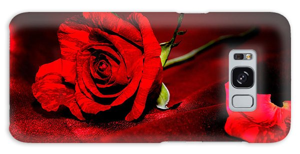 Red Rose  Galaxy Case by Serena King