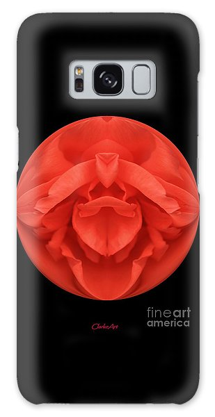 Red Rose Sphere Galaxy Case