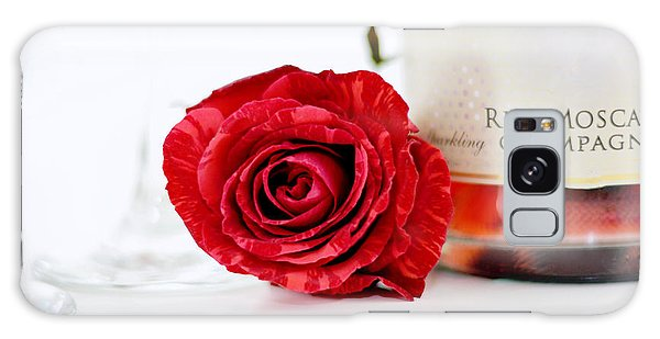 Red Rose With Champagne Galaxy Case