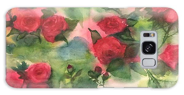 Red Roses Galaxy Case by Lucia Grilletto