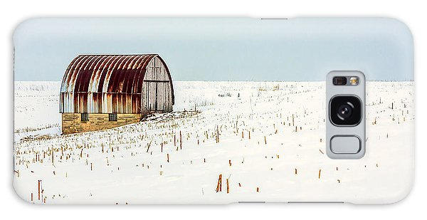 Cold Day Galaxy Case - Red, Rusty Roof by Todd Klassy