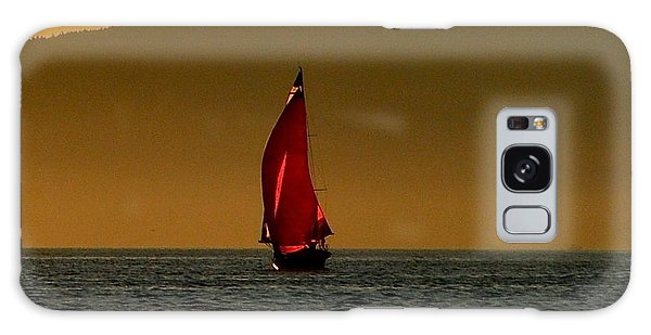 Red Sailboat Galaxy Case