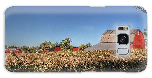 0042 - Red Saltbox Barn Galaxy Case