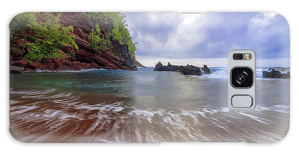 Pacific Ocean Galaxy Case - Red Sand by Chad Dutson