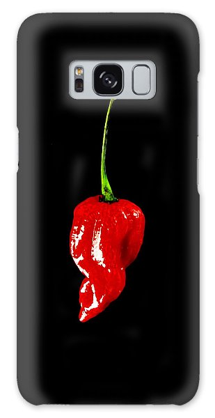 Red Scorpion Chilli Pepper Galaxy Case by Michael Canning