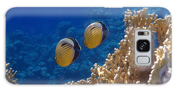 Red Sea Exquisite Butterflyfish  Galaxy Case