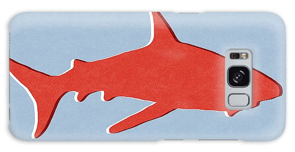 Sharks Galaxy Case - Red Shark by Linda Woods