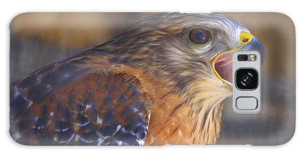 Red Shoulder Hawk Galaxy Case