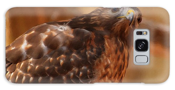 Red Shouldered Hawk 1  Galaxy Case by Chris Flees