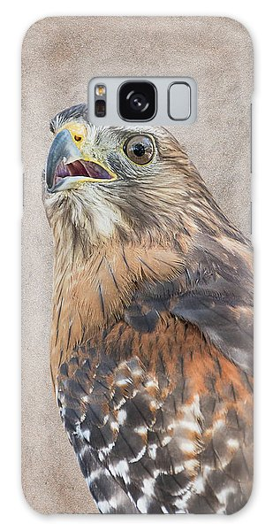 Red-shouldered Hawk Artistic Portrait Galaxy Case