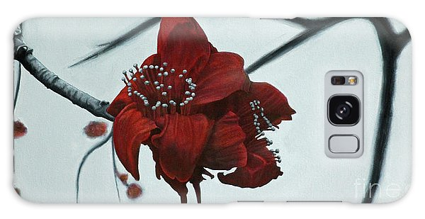 Red Silk Cotton Flower Galaxy Case