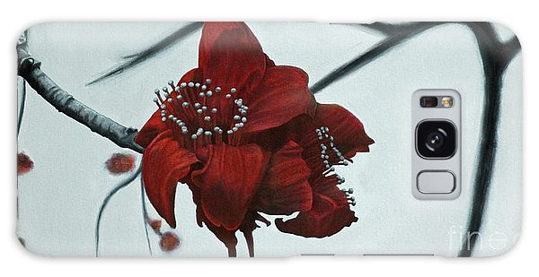 Red Silk Cotton Flower Galaxy Case by Jennifer Watson