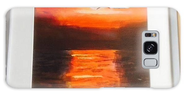 Red Skies Galaxy Case by Audrey Pollitt