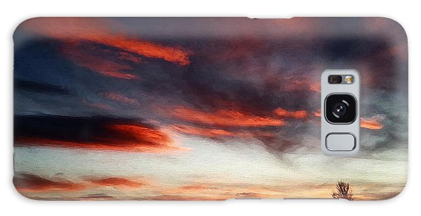 Galaxy Case featuring the digital art Red Sky by Julian Perry
