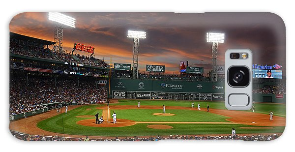 Red Sky Over Fenway Park Galaxy Case