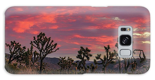 Red Sky Over Joshua Tree Galaxy Case
