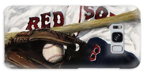 Baseball Bats Galaxy S8 Case - Red Sox Number Nine by Jack Skinner