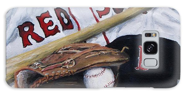 Red Sox Number Six Galaxy Case by Jack Skinner