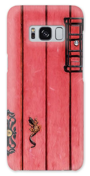 Red Speakeasy Door Galaxy Case