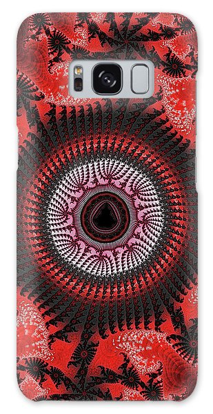 Red Spiral Infinity Galaxy Case