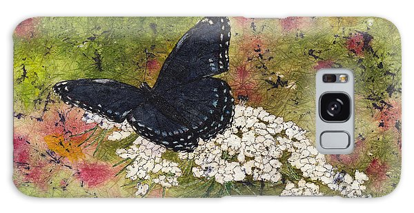 Red Spotted Purple Butterfly Queen Annes Lace Batik Galaxy Case