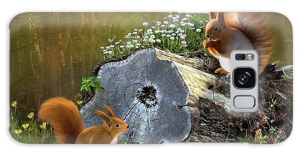 Red Squirrels Galaxy Case by Thanh Thuy Nguyen
