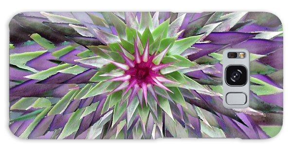 Red Star Thistle Kaleidoscope Galaxy Case