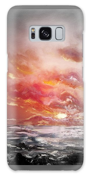 Red Sunset 77 Galaxy Case