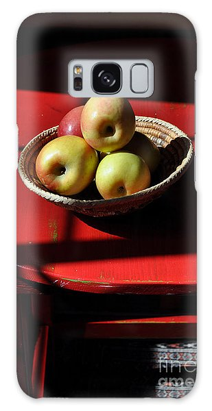 Red Table Apple Still Life Galaxy Case