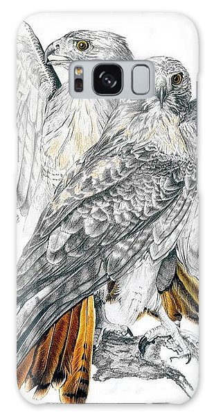 Red-tailed Hawk Galaxy Case by Barbara Keith
