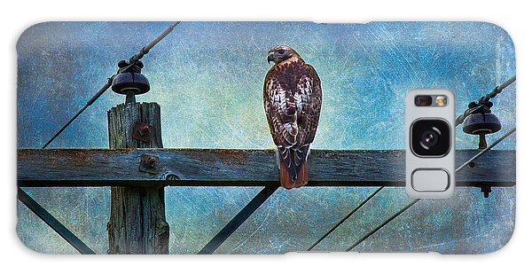 Red-tailed Hawk On Power Pole Galaxy Case