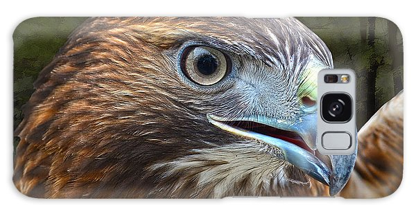 Red-tailed Hawk Portrait Galaxy Case