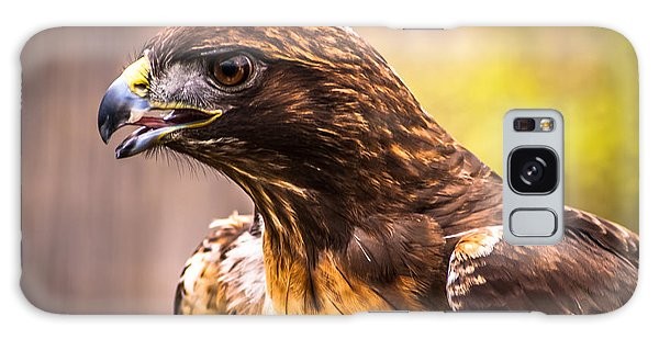 Red Tailed Hawk Profile Galaxy Case