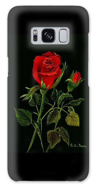 Red Tango Rose Bud Galaxy Case