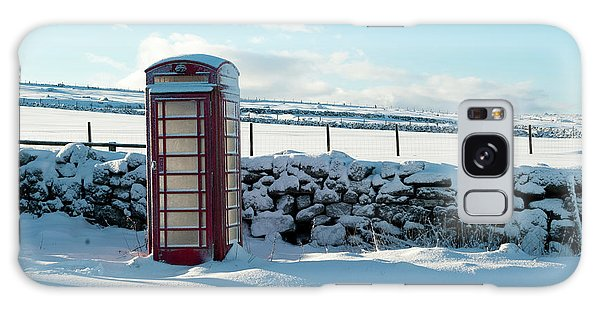 Red Telephone Box In The Snow V Galaxy Case