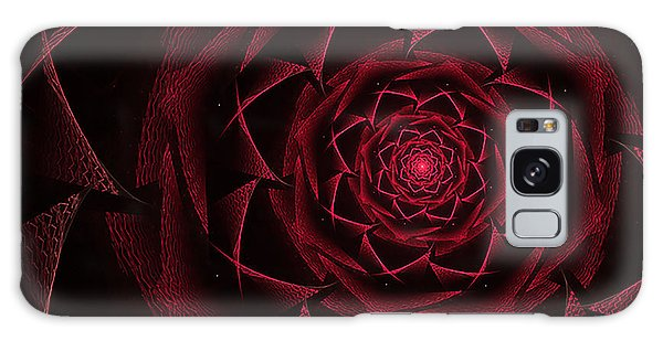 Red Textile Rose Galaxy Case