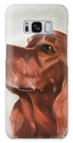Red The Irish Setter Galaxy Case