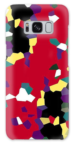Red Tiles Galaxy Case