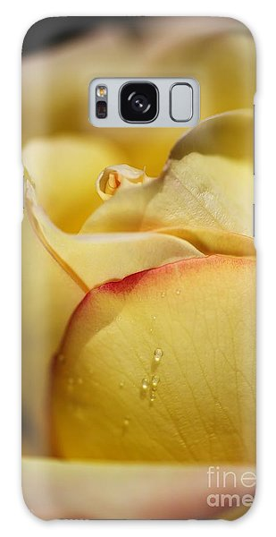 Red Tipped Yellow Rose Galaxy Case by Joy Watson