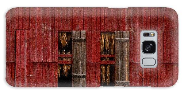 Red Tobacco Barn Galaxy Case