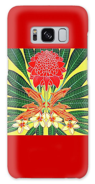 Red Torch Ginger Galaxy Case by Debbie Chamberlin