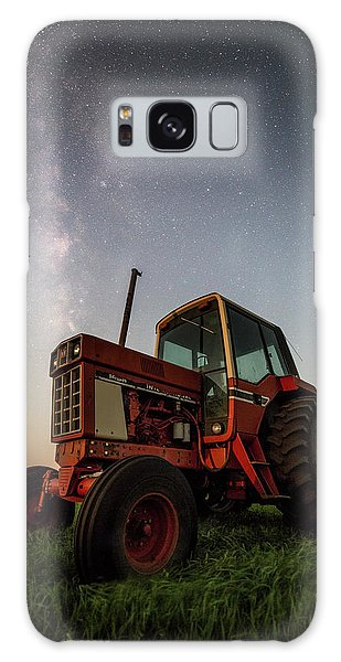 Red Tractor Galaxy Case