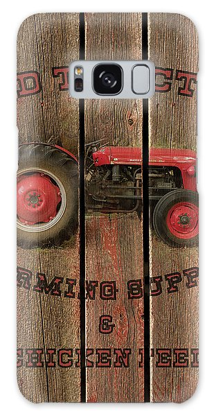 Red Tractor Farming Supply Galaxy Case