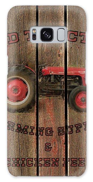 Red Tractor Farming Supply Galaxy Case