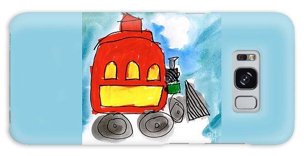 Red Train Galaxy Case