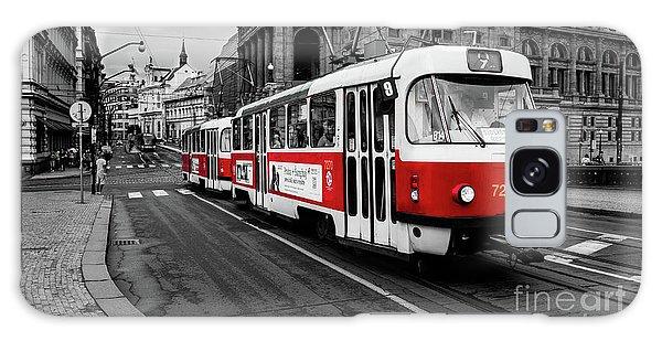 Red Tram Galaxy Case