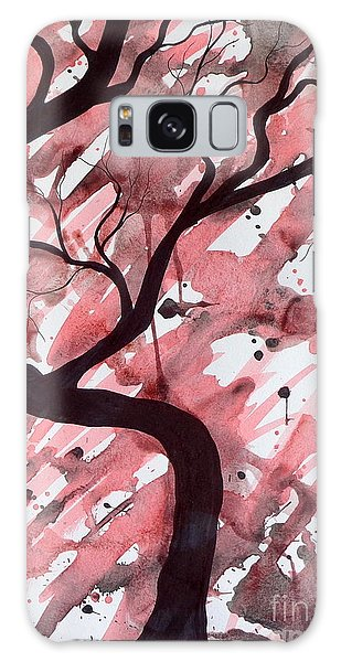 Red Tree Enchantment Galaxy Case