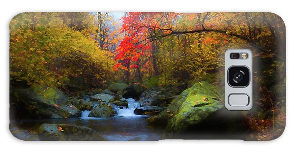 Red Tree In White Oak Canyon Galaxy Case