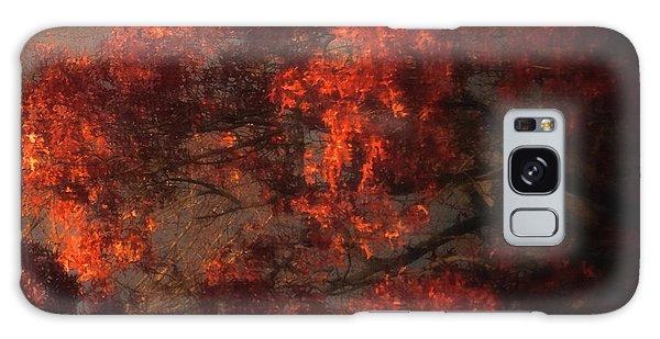 Red Tree Scene Galaxy Case